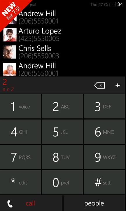 Скачать 7Dialer для Nokia Lumia 710