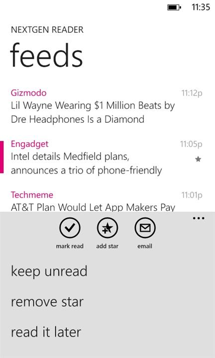 Скачать Nextgen Reader для HTC Titan