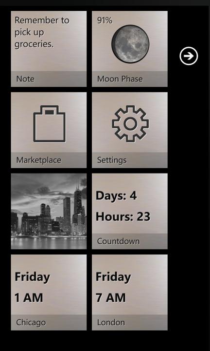 Quick Tiles для Windows Phone