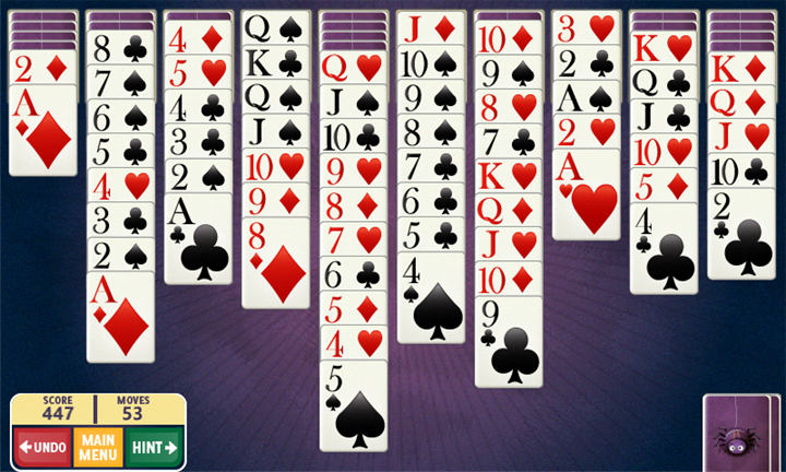 Скачать Spider Solitaire для Samsung Omnia 7