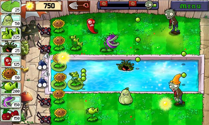Скачать Plants vs Zombies для Nokia Lumia 820