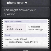 Siri говорит, что лучший смартфон – Nokia Lumia 900
