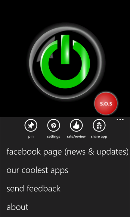Flashlight-X Pro для Windows Phone