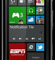 Концепт центра уведомлений для Windows Phone