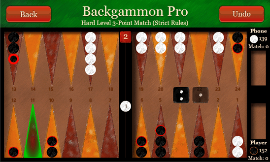Backgammon Pro+ для Windows Phone