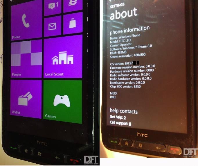 Windows Phone 8 будет на HTC HD2