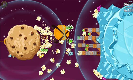 Angry Birds Space для Windows Phone