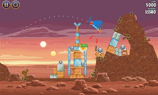 Скачать Angry Birds Star Wars для Samsung Omnia 7