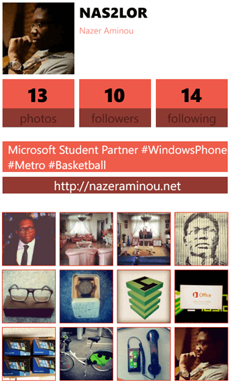 Metrogram для Windows Phone