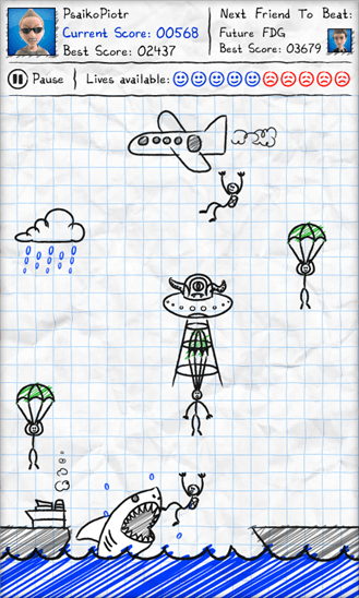 Скачать Parachute Panic для HTC Titan