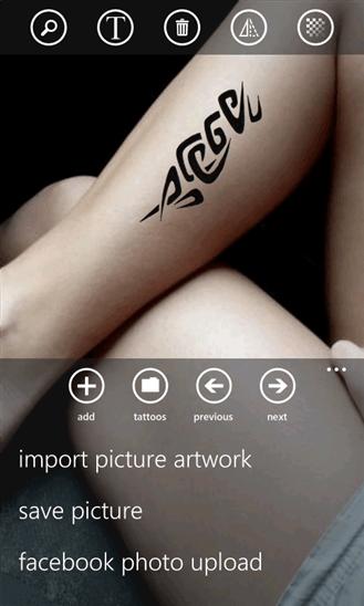 Скачать Tattoo Tester для LG Optimus 7