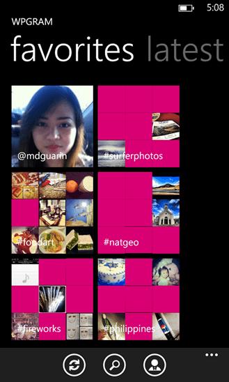 WPGram для Windows Phone