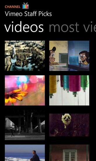 Vimeo для Windows Phone