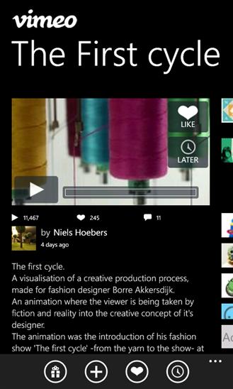 Скачать Vimeo для HTC 8S
