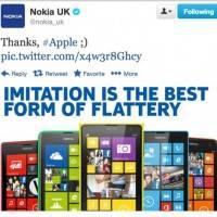 Nokia посмеялась над Apple