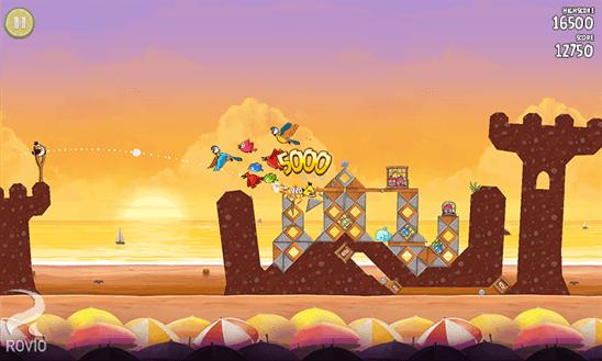 Скачать Angry Birds Rio для HTC HD7