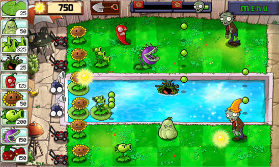 Скачать Plants vs Zombies для Q-Mobile Dream W473