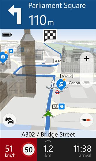 HERE Drive+ для Windows Phone