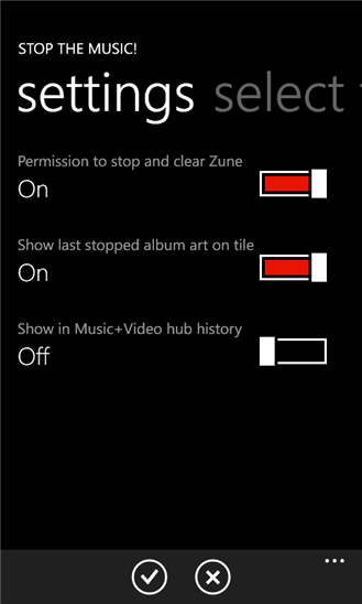 Stop the Music! для Windows Phone
