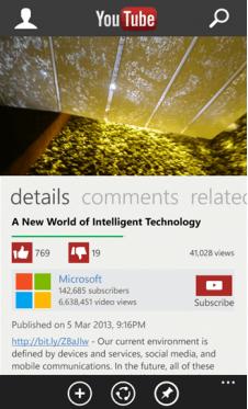 Скачать YouTube для Nokia Lumia 720
