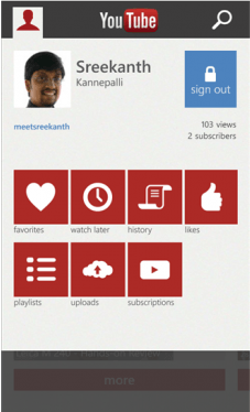 YouTube для Windows Phone