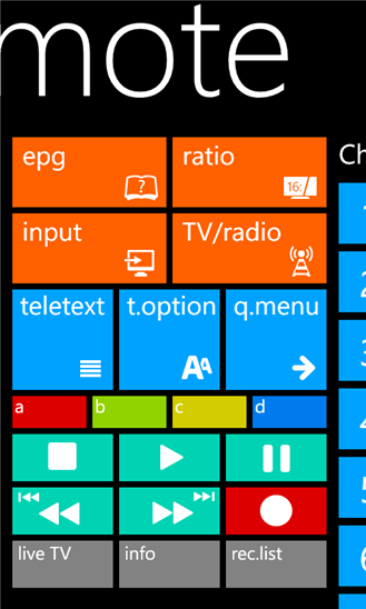 LG Remote для Windows Phone