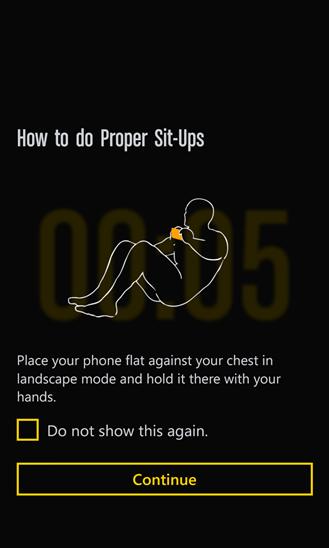 Runtastic Sit-Ups для Windows Phone