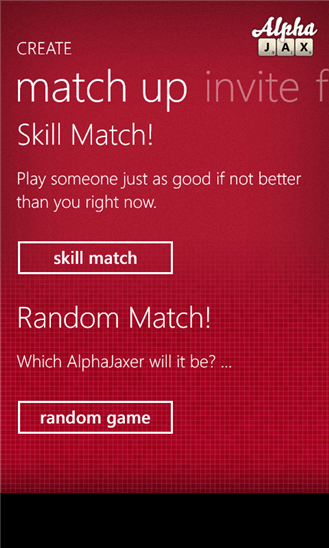 AlphaJax для Windows Phone