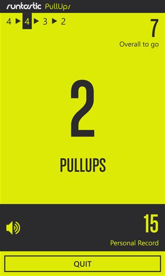 Runtastic Pull-Ups для Windows Phone