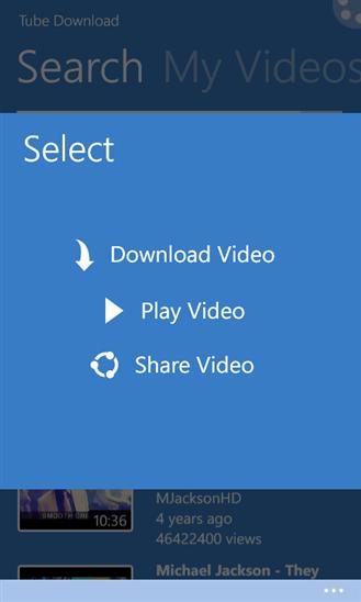 Tube Download для Windows Phone