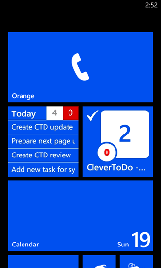 CleverToDo для Windows Phone