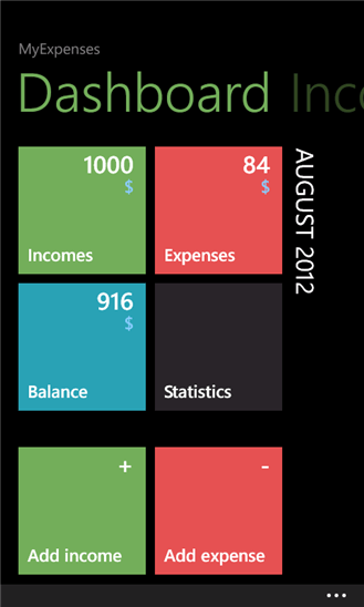 MyExpenses для Windows Phone
