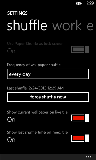 Paper Shuffle для Windows Phone