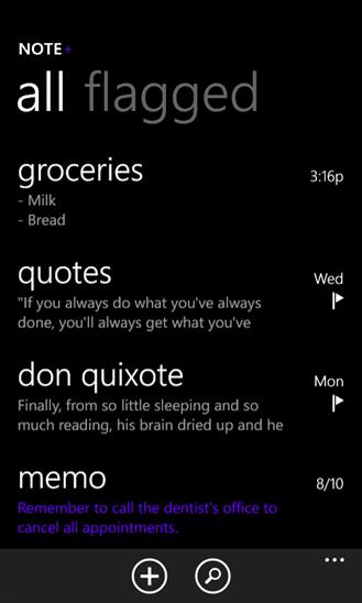 Скачать Note+ для Nokia Lumia 610