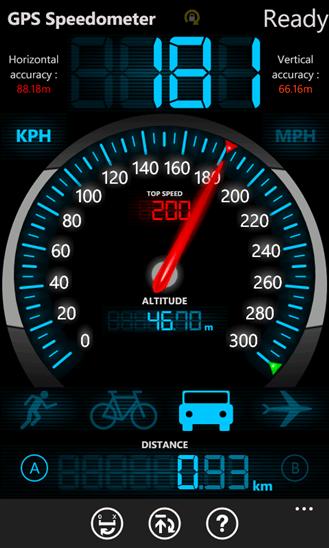 GPS Speedometer для Windows Phone