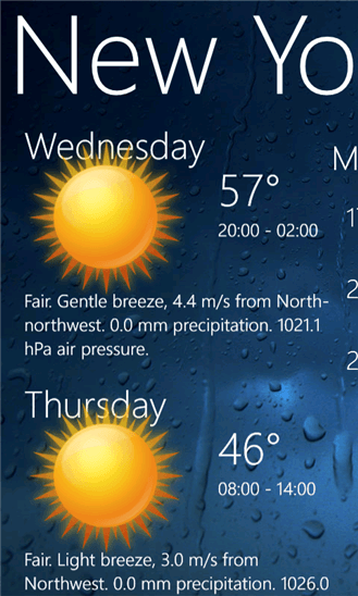 Weather View для Windows Phone