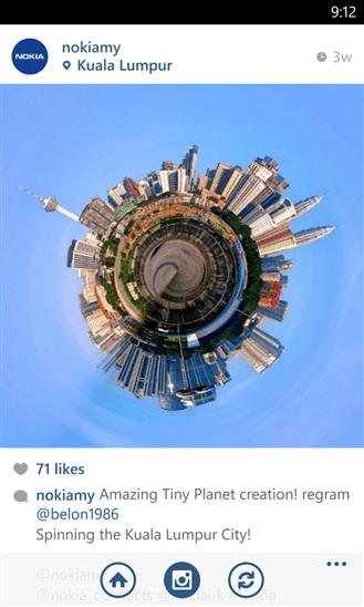 Скачать Tiny Planets PRO для Nokia Lumia 1520