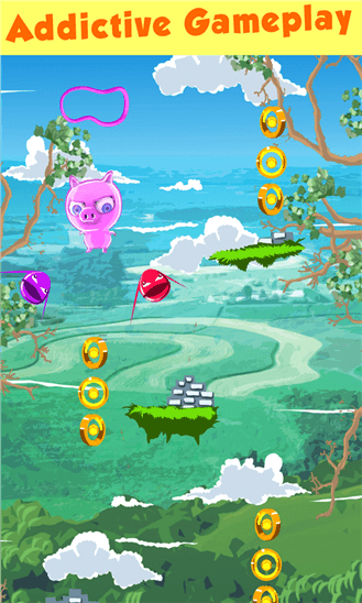 Скачать Crazy Piggy: Super Jump для HTC 7 Pro