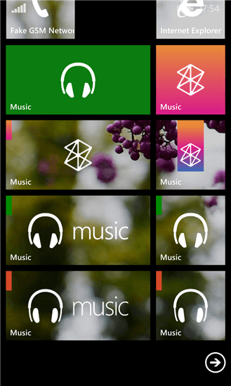 Music Hub Tile для Windows Phone