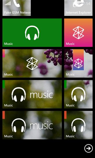 Скачать Music Hub Tile для LG Optimus 7