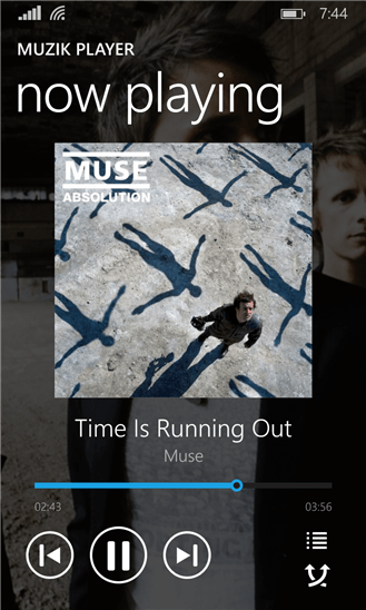 Muzik Player для Windows Phone