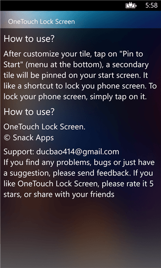 Скачать OneTouch Lock Screen для Blu Win HD