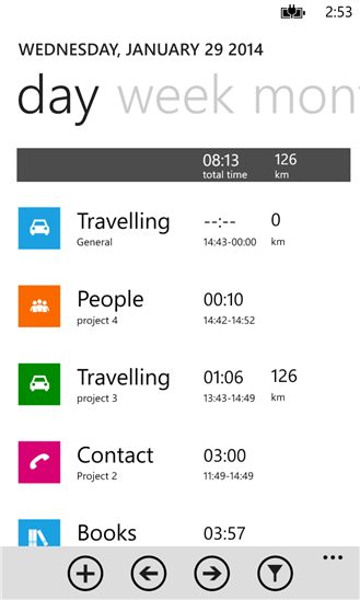 EverTime для Windows Phone