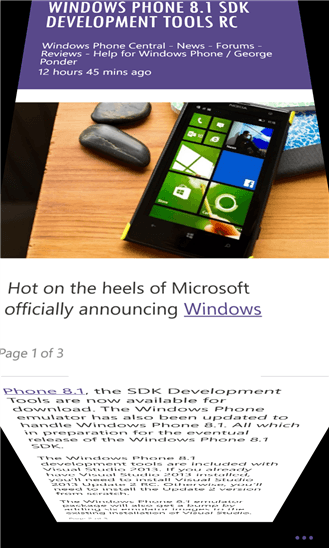 Скачать Magnify News Reader для HTC One M8 for Windows