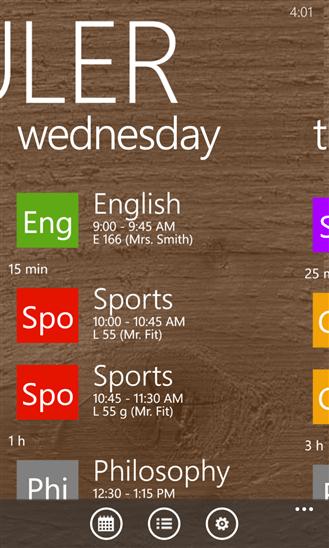 Class Scheduler для Windows Phone