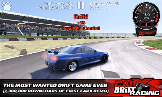 Скачать CarX Drift Racing для Nokia Lumia 735