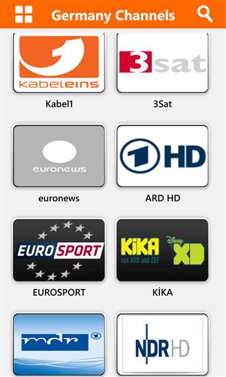 Global TV для Windows Phone