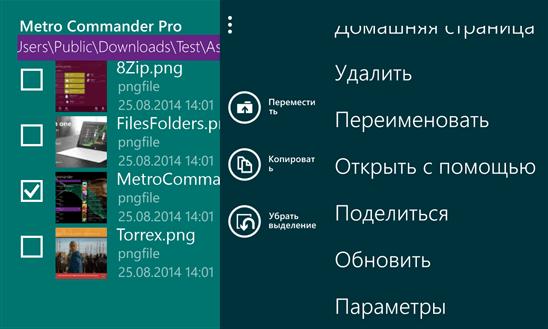 Скачать Metro Commander Pro для Q-Mobile Storm W610