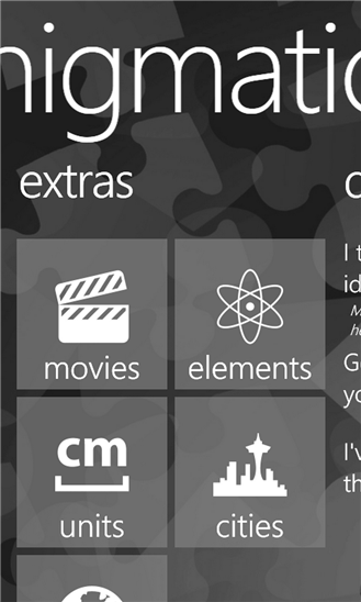 Enigmatica для Windows Phone