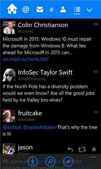 Скачать Tweetium для Nokia Lumia 720